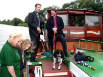 2010 The Archbishop of York vists Syntan Barge