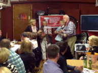 Musical interlude - teenage cancer trust. Barge quiz 2014.