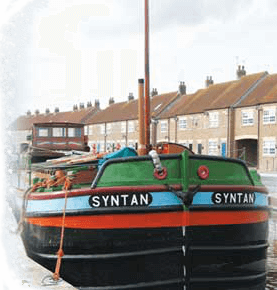 Syntan barge