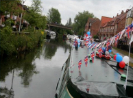 Bunting bedecked barge